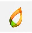 Green concept geometric design eco leaf vector image vector image