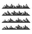 Mountain Icons Set on White Background vector image