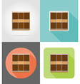furniture flat icons 15 vector image