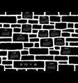 a 2018 calendar made from a stone wall vector image