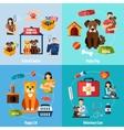 Animal shelter set vector image