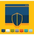 Flat design internet security guard vector image