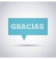 gratitude message label isolated icon vector image