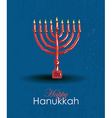 Hand drawn Hanukkah card template vector image