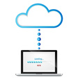 laptop and cloud vector image