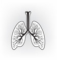 lungs sign human internal organ anatomy icon vector image