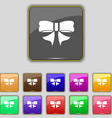 Ribbon Bow icon sign Set with eleven colored vector image
