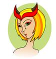 woman demon vector image