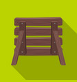 wooden fence barikaddapaintball single icon in vector image