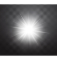 Vibrant sun rays or burst light effect vector image vector image