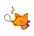 A sleeping fox vector image vector image