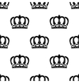 Seamless pattern of royal crowns vector image