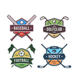 Sport Emblems 2 vector image vector image