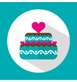Valentine cake flat icon with long shadow vector image vector image