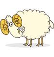 cartoon of funny happy ram vector image