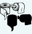 Simple toilet paper vector image vector image
