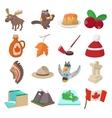 Canada icons cartoon vector image