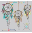 Beautiful with dream catchers vector image