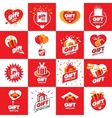 collection of logos for gifts vector image