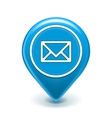 Email Map Location Icon vector image