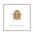 gold beetle in a frame emblem vector image