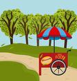 Green park design vector image