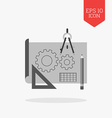 Prototyping project icon Flat design gray color vector image