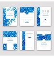 Set of brochures in Dotted Blue style Beautiful vector image