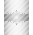 Silver gray vintage background vector image