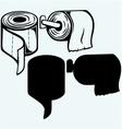 Simple toilet paper vector image