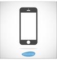 Smartphone solid icon vector image