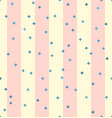 Striped pattern with stars seamless background vector image
