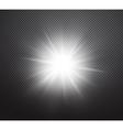 Vibrant sun rays or burst light effect vector image