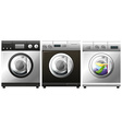Washing machine with laundry inside vector image