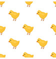 yellow fluffy chick easter single icon in vector image