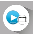 tablet pc technology video player vector image