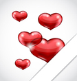 Valentines day background with set hearts vector image vector image