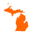 Map of Michigan vector image