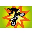 Jumping motorbike vector image