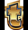 Golden Font Letter t vector image