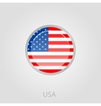 United States of America flag button vector image