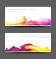 Banner watercolor violet yellow vector image
