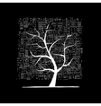 Growing city tree concept Sketch for your design vector image vector image