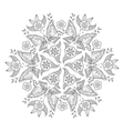 Mendie Mandala with butterflies and flowers For vector image