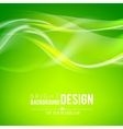 Bright green waves vector image