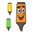 Cartoon smiling marker character vector image