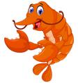 cute shrimp cartoon for you design vector image