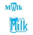 Milk and dairy emblems vector image
