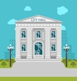 Municipal Building City Hall the Government the vector image