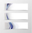 Set of banner design vector image